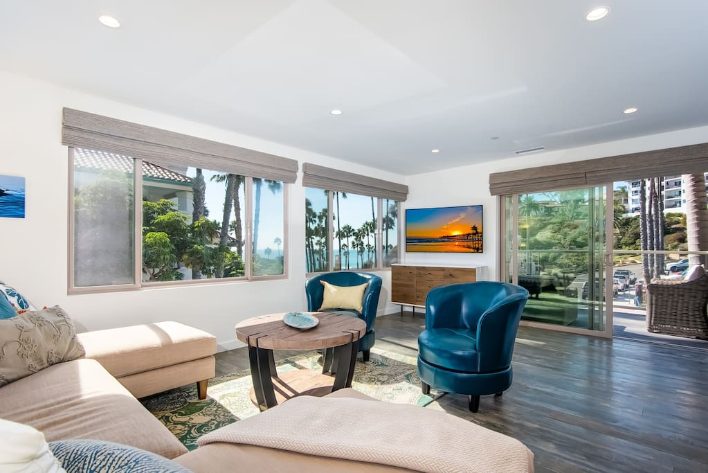 Little Fish is less than 500 feet from the beach and pier, with beautiful beach views.