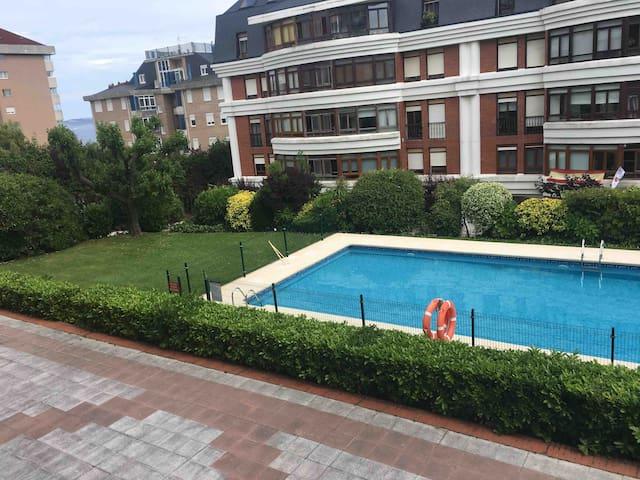 Piso Santander cerca playa  campo de golf  piscina