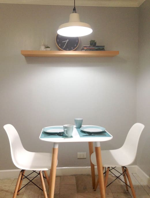 Dining table can also serve as a work table