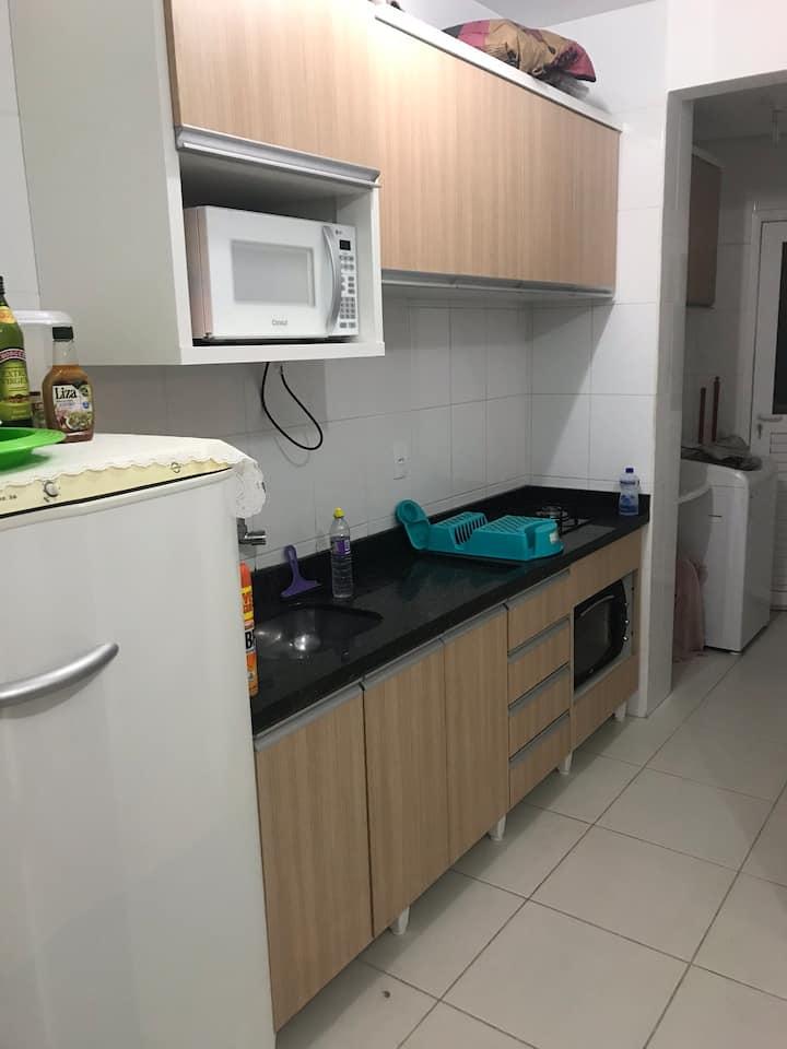 Apartamento confortável com WI-FI E TV SMART