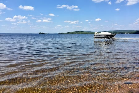 NEW Lakefront Executive Home + 3 Cabins; Sleeps 20 - Golden Lake - Hus