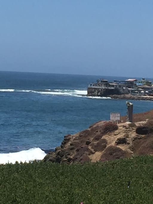 Nearby fishing village can be accessed by an easy walk along the beach