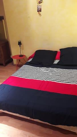 Location chambre (lit 140+lit 90) chez l'habitant