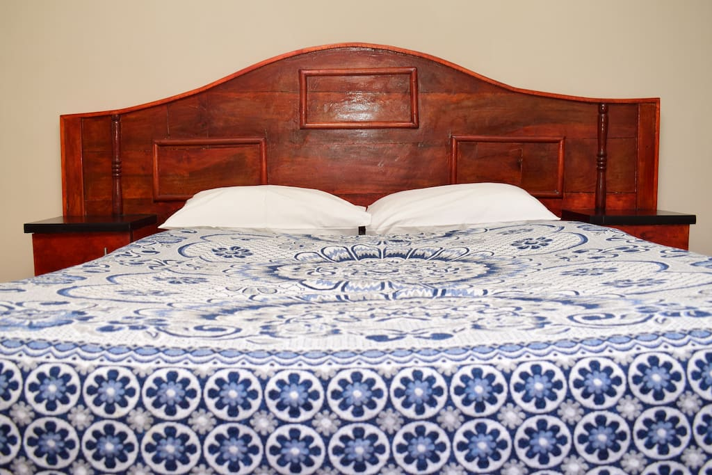Front view of double bed
