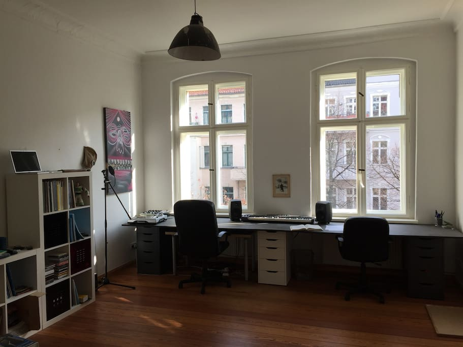 working space & living room
