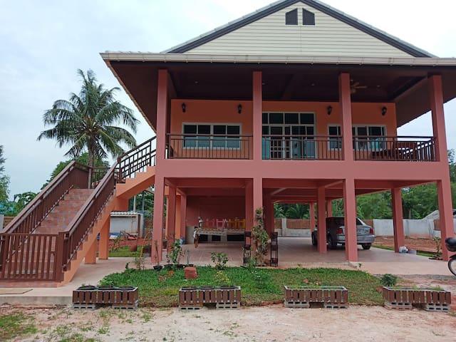 Bang Boet vacation house.  The orange house