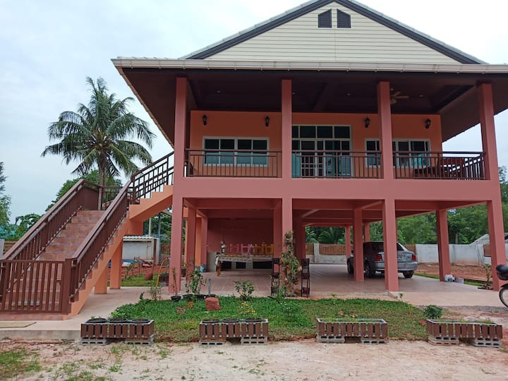 Bang Boet vacation house.  The orange house