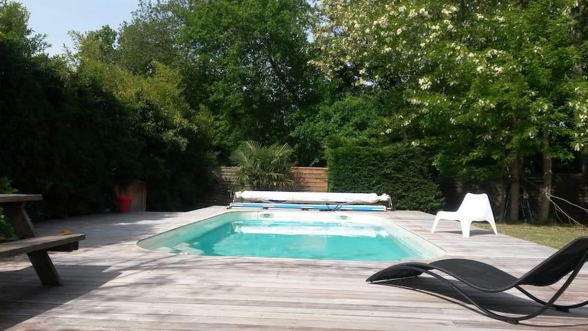 Maison avec piscine proche océan - Lège-Cap-Ferret - Hus