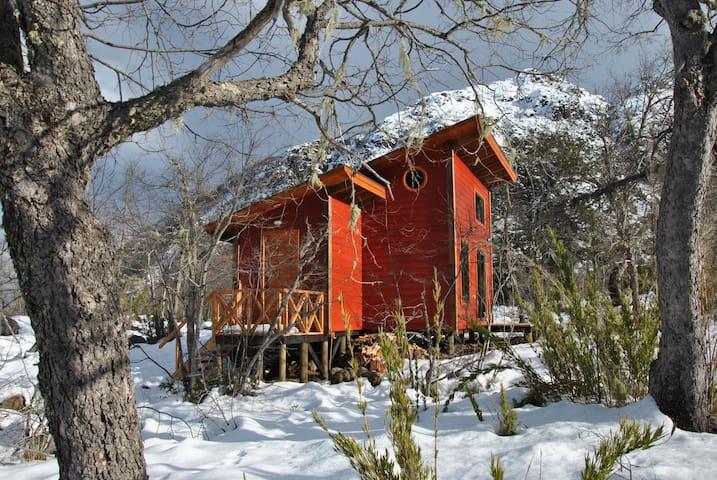 """Cabana """" MOOREA """"  en Las Trancas - Chillan - Chalé"""
