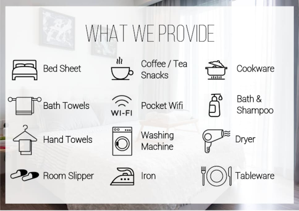 Free amenities that we provide