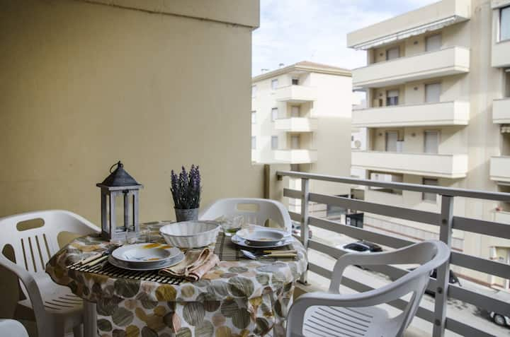 """Two room apartment 200 meters away from the sea """"Mostella"""""""