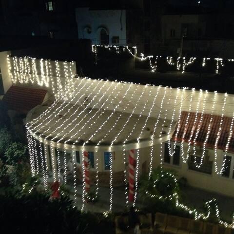 Kuckoo's villa at night