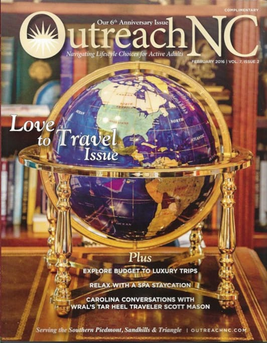 The Artist's Garret is featured in Outreach Magazine's Travel Edition
