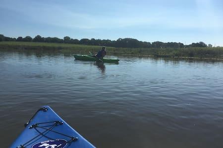 Great kayaking, biking, hiking get away