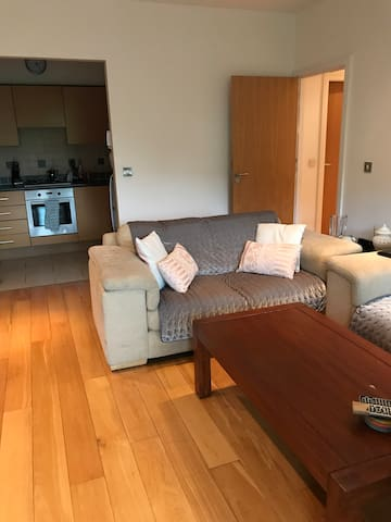 Spacious double room in modern apartment