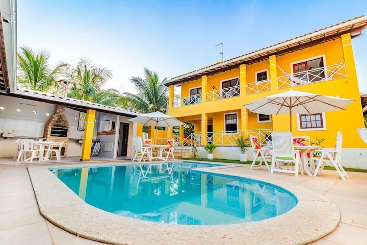 GB16 Maravilhosa Casa 6 Suítes a 50m da Praia em Guarajuba
