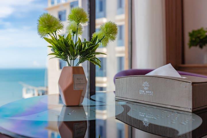 惠州双月湾 巽寮湾 目的地曦岸酒店 海景情侣房