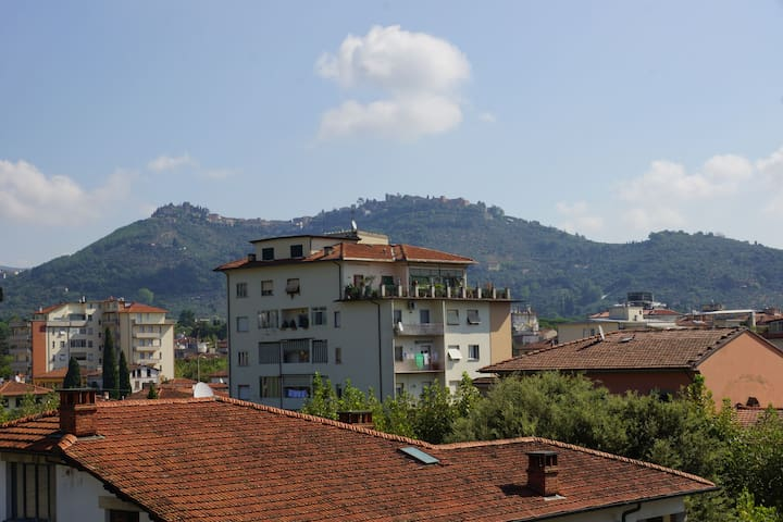 From the kitchen terrace