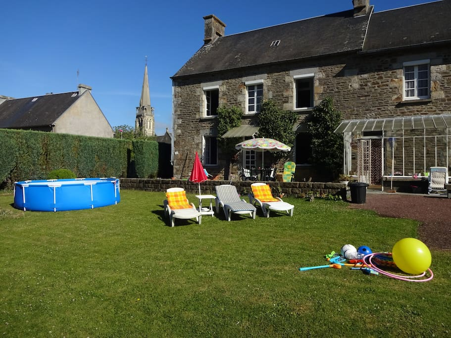 Back garden with swimming pool