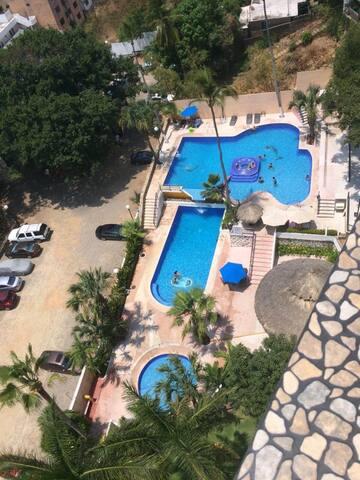 Excelente alojamiento y vista del mar en Acapulco