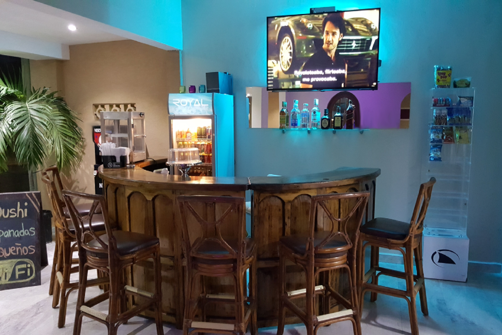 The Lobby bar where you can order empanadas and drinks