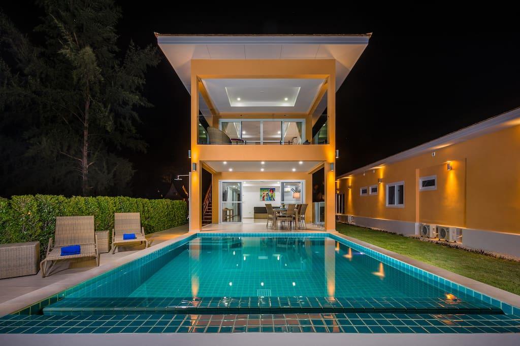 Villa in night