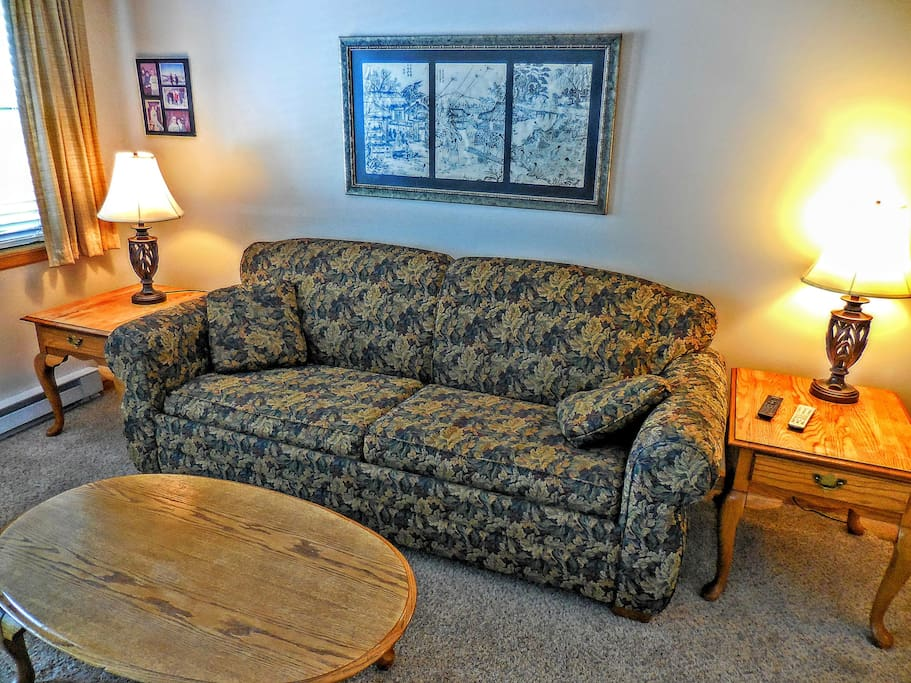 Foldout couch sleeps 2