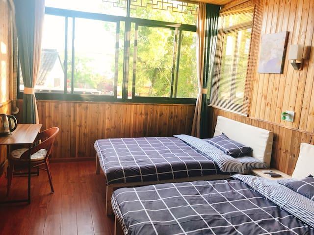 南浔古镇景区独立别院内日式小木屋标房双人间