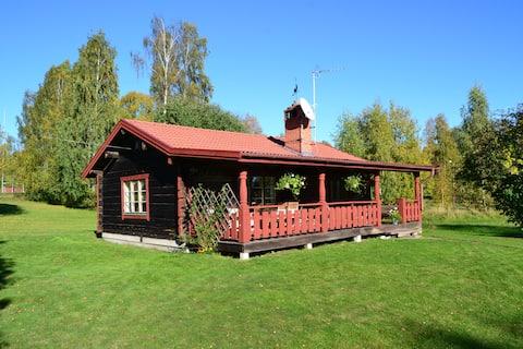 Hytte, tæt på Siljan i Dalarna