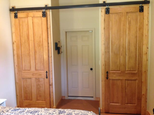 Spacious his and hers closets