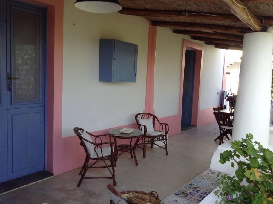 terrazzo privato con accesso alle camere