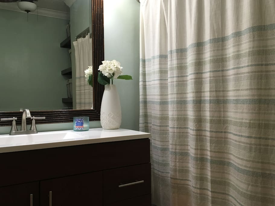 The bathroom (shared) has been recently renovated.