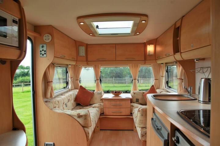 Wrekin View. Rural caravan stay in countryside.