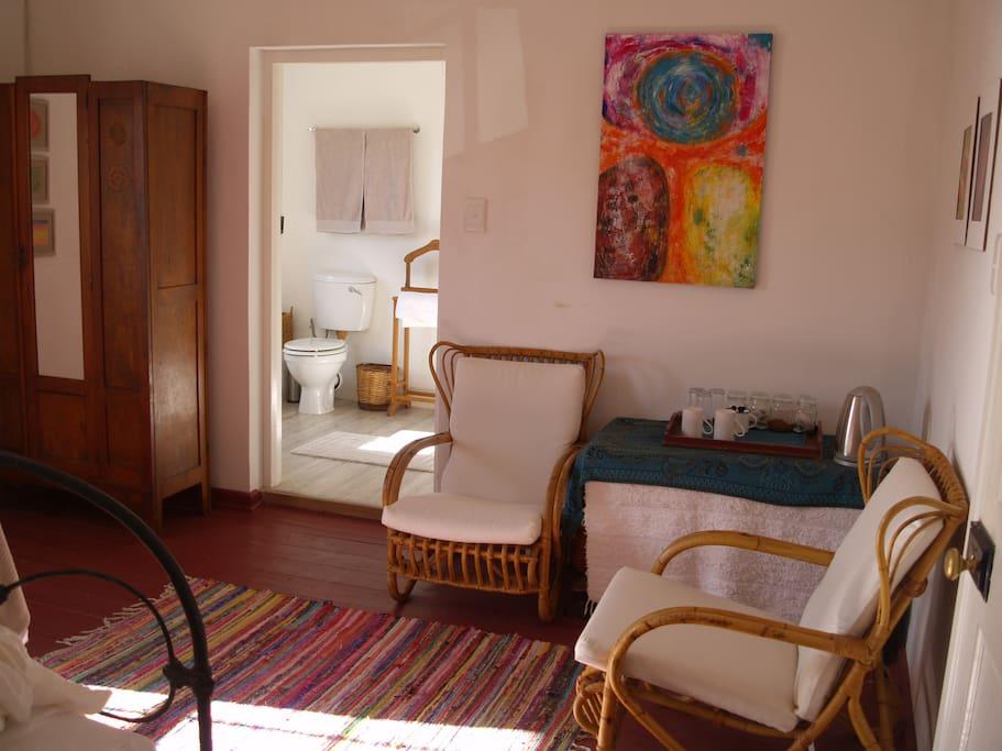 Sitting corner in room