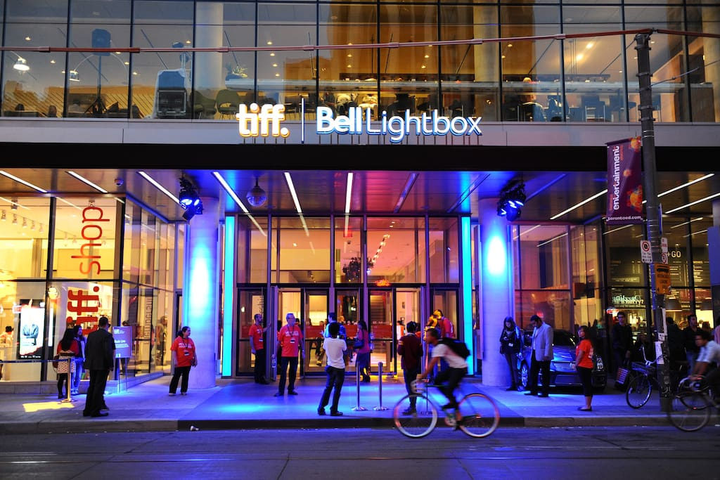 Just around the corner from the center of the TIFF Festivities