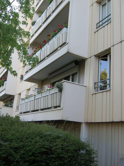 Quartier résidentiel.