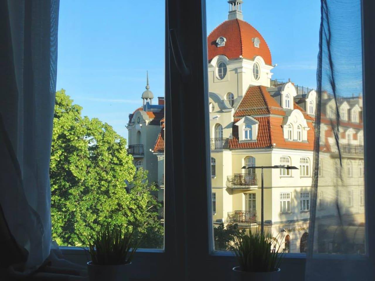 Widok z okna - salon