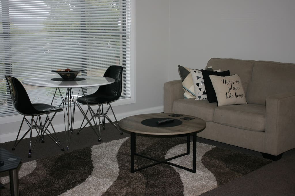Loungeroom and small dining area