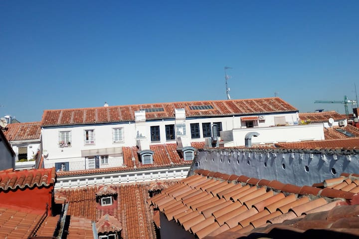 Malasaña&Chueca rooftop new studio with AC