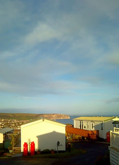 Super view over Swanage Bay..