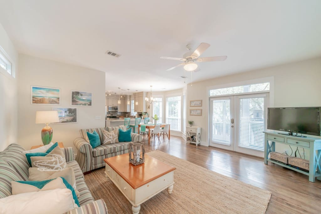 Decked Out ~ Seagrove Beach ~ Living Room ~ Paradise Properties