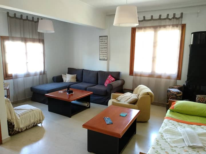 Home, near the beach of Vlite Souda Bay.