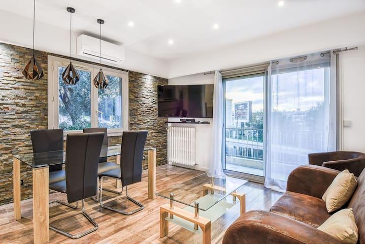 Chambre Spacieuse dans appartement haut de gamme