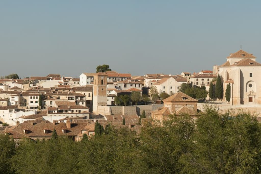 Vista panorámica de Chinchón desde el castillo.