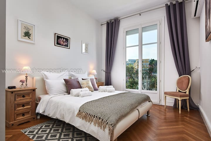 Comfortable master bedroom.