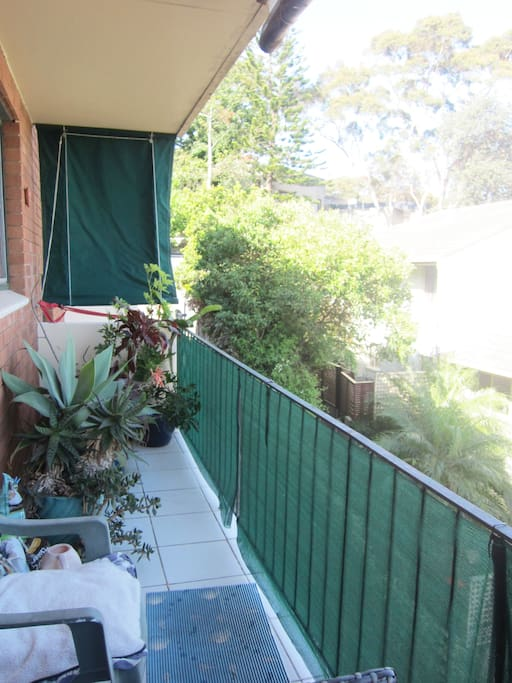 Long spacious and private balcony