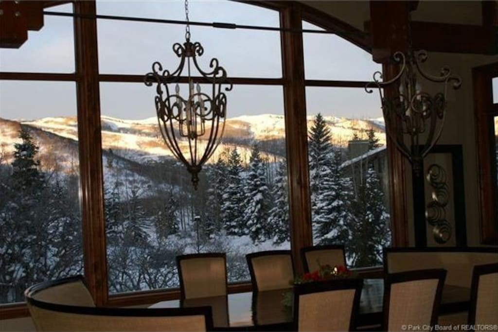 Ski Runs view from kitchen, dining room