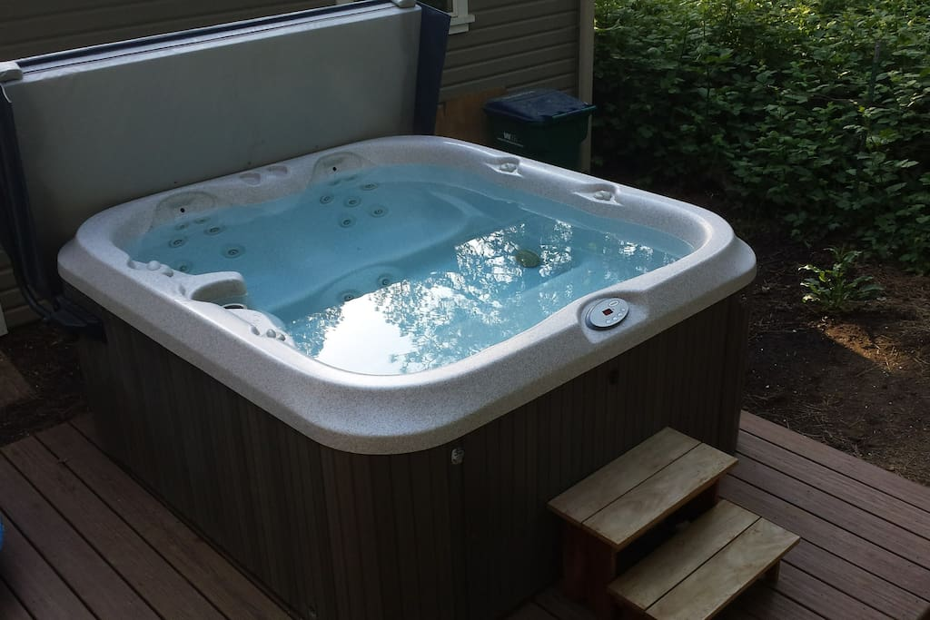 Great hot tub, bring a cup of espresso in the morning or star watch at night.