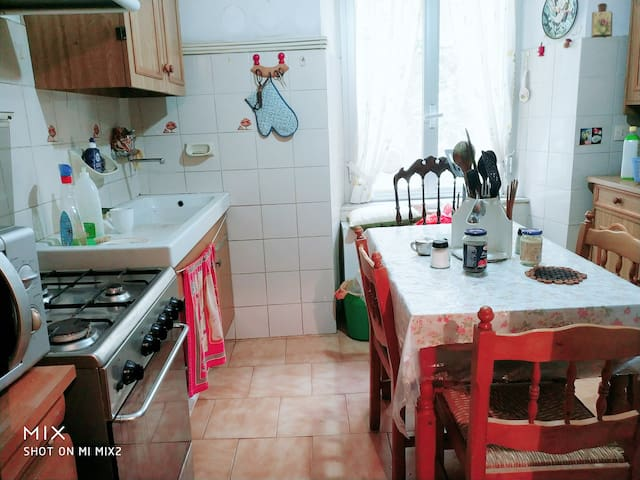 Kitchen, usable by guests