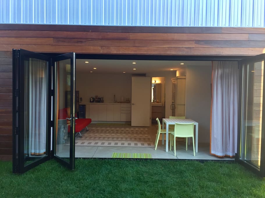 Mod squad with folding doors open